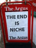 The end is niche newspaper board
